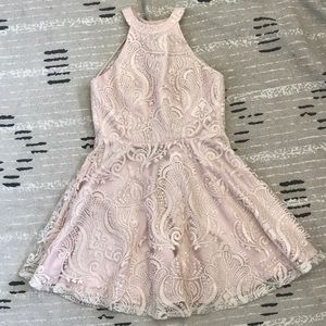 Windsor Blush Pink Formal Skater Dress